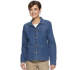 Women's Croft & Barrow® Worker Jean Jacket