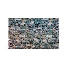 Achim Welcome Inlaid Stones Outdoor Rubber Entrance Doormat - 18'' x 30''