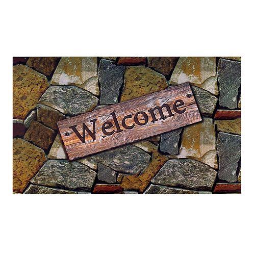 Achim Welcome Quarry Stones Outdoor Rubber Entrance Doormat - 18'' x 30''