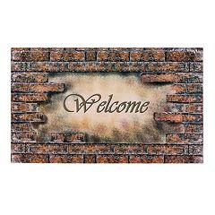 Achim Welcome Bricks Outdoor Rubber Entrance Doormat - 18'' x 30''