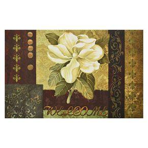 Achim Magnolia Welcome Outdoor Rubber Entrance Doormat - 18'' x 30''