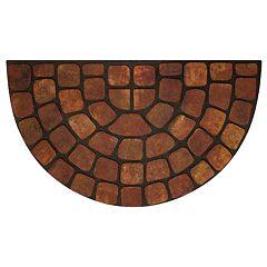 Achim Stone Slice Raised Rubber Doormat - 18'' x 30''