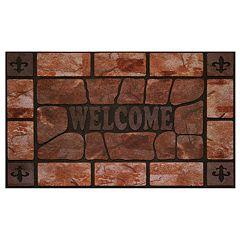 Achim Stone Raised Rubber Doormat - 18'' x 30''