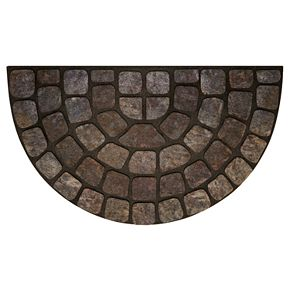 Achim Stone Slice II Raised Rubber Doormat - 18'' x 30''