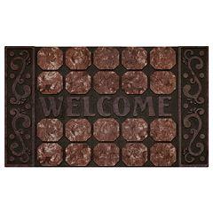 Achim Octagon Squares Raised Rubber Doormat - 18'' x 30''