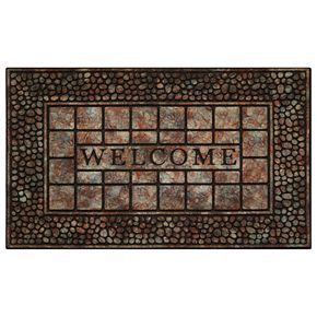 Achim Pebble Squares Raised Rubber Doormat - 18'' x 30''