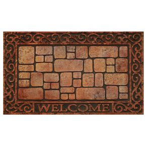 Achim Paver Scroll Raised Rubber Doormat - 18'' x 30''