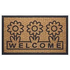 Achim Daisy Printed Coir Doormat - 18'' x 30''