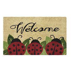 Achim Ladybug Printed Coir Doormat - 18'' x 30''