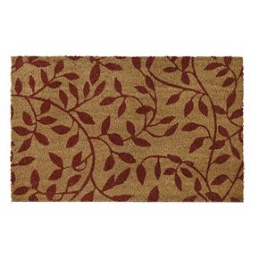 Achim Leaves Printed Coir Doormat - 18'' x 30''