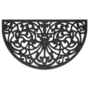 Achim Ironworks Wrought Iron Look Rubber Doormat - 18'' x 30''