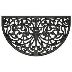 Achim Ironworks Wrought Iron Look Rubber Doormat - 18'' x 30''