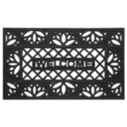 Achim Tulip Wrought Iron Look Rubber Doormat - 18'' x 30''