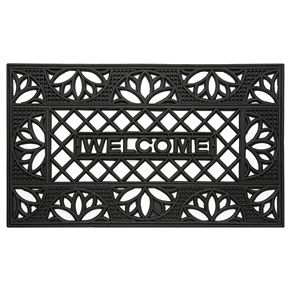Achim Tulip Wrought Iron Look Rubber Doormat - 18'' x 30''