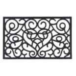 Achim Iron Heart Wrought Iron Look Rubber Doormat - 18'' x 30''