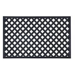 Achim Lattice Wrought Iron Look Rubber Doormat - 18'' x 30''