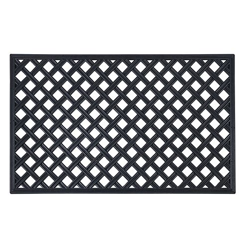 Achim Lattice Wrought Iron Look Rubber Doormat - 18'' x 30''