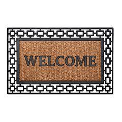 Achim Art Deco Wrought Iron Look Rubber Doormat - 18'' x 30''