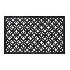 Achim Diamond Geo Wrought Iron Look Rubber Doormat - 18'' x 30''
