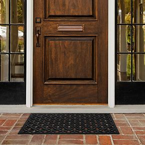Achim Diamond Geo Wrought Iron Look Rubber Doormat - 18'' x 30''