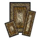 Achim Capri Leopard Print 3-piece Rug Set
