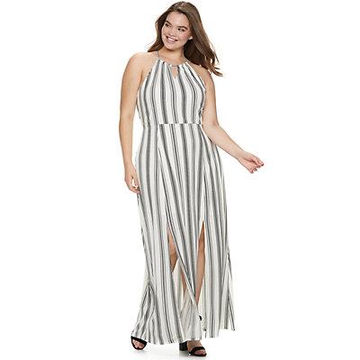 Juniors' Plus Size Candie's® Halter Maxi Dress