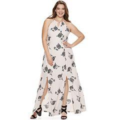d792892c215 Juniors  Plus Size Candie s® Halter Maxi Dress