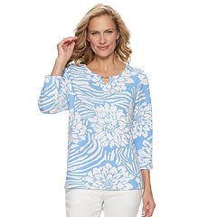 8cd46741a1369a Women s Cathy Daniels Embellished Tropical Floral Top