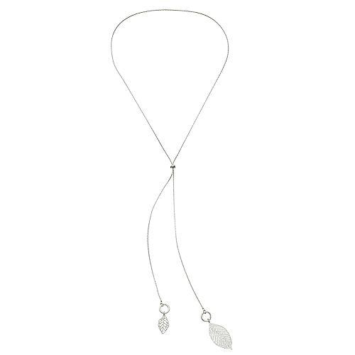 LC Lauren Conrad Double Leaf Necklace