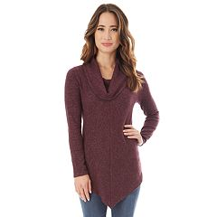 Juniors' IZ Byer Cowlneck Tunic Sweater