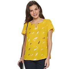 ef7946124bbb0f Womens Yellow Blouses Shirts   Blouses - Tops