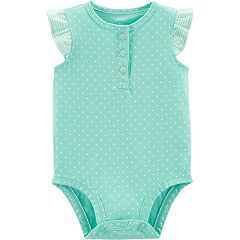 Baby Girl Carter's Henley Bodysuit