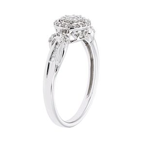 10k White Gold 1/3 Carat T.W. Diamond Halo Ring