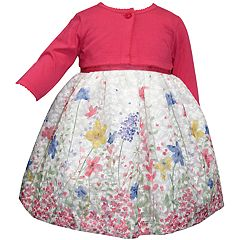 ddf9ee6448df Toddler Girl Blueberi Boulevard Floral Print Dress & Long Sleeve Cardigan