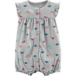 Baby Girl Carter's Print Graphic-Back Romper
