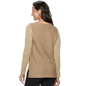 Women's Dana Buchman Braided Cable-Knit Sweater