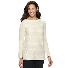 Women's Dana Buchman Braided Cable-Knit Sweater