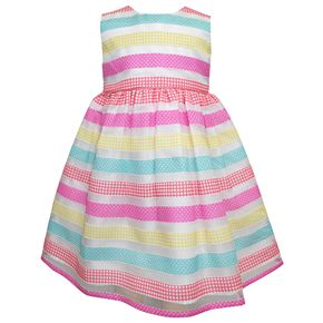 Toddler Girl Blueberi Boulevard Stripe Dress & Cardigan