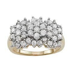 10k Gold 2 Carat T.W. Diamond Cluster Ring