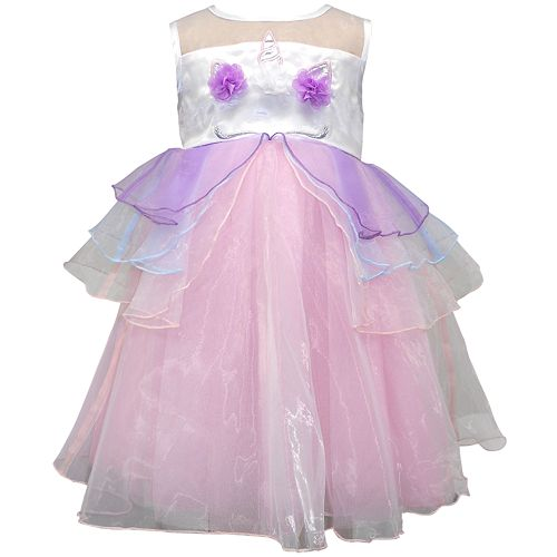 Toddler Girl Blueberi Boulevard Unicorn Dress