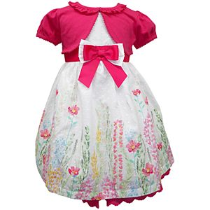 2ecdaf340 Toddler Girl Blueberi Boulevard Floral Print Dress   Long Sleeve ...