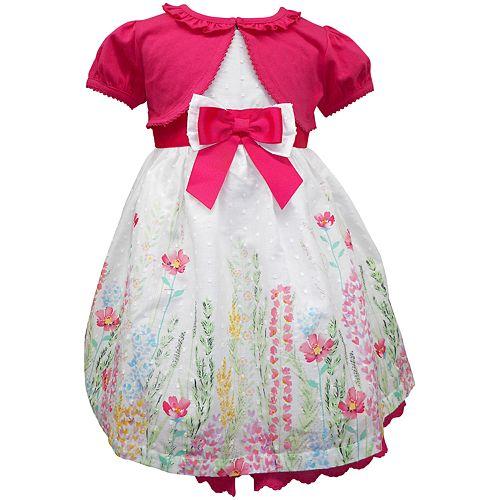Toddler Girl Blueberi Boulevard Clip-Dot Easter Sundress & Cardigan Set