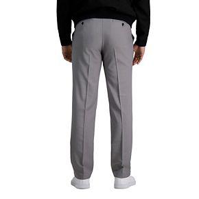 Men's Haggar Premium Comfort Straight-Fit Flat-Front Dress Pants
