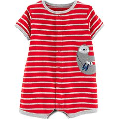 Baby Boy Carter's Striped Animal Applique Romper