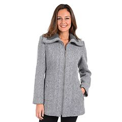 Women's Kensie Tweed Midweight Coat