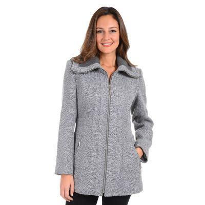 Women's Kensie Tweed Midweight Coat