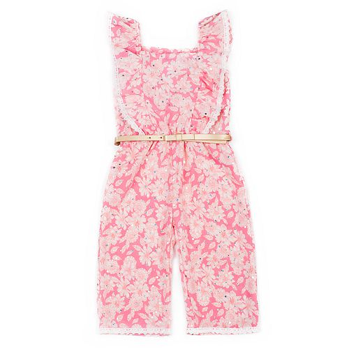Toddler Girl Little Lass Floral Jumpsuit