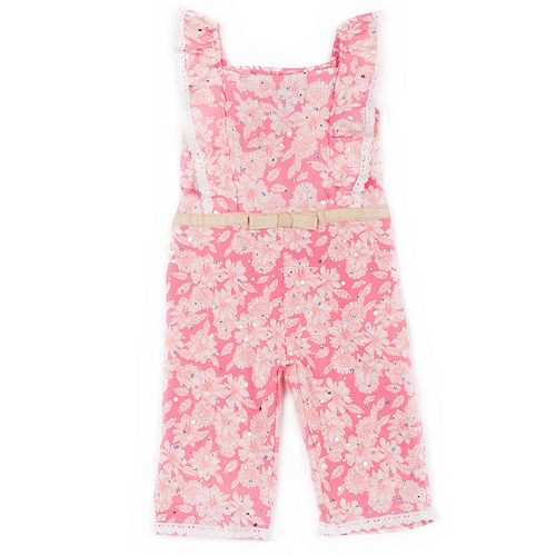 Baby Girl Little Lass Floral Jumpsuit