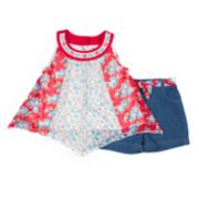 Baby Girl Little Lass Pieced Tank Top & Shorts Set