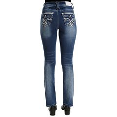 Women's Hydraulic Embroidered Bootcut Midrise Jeans